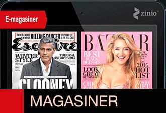 magasiner og tidsskrifter